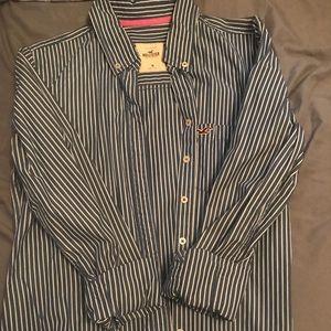 Hollister striped button up shirt/blouse